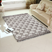 Rugsville Hind Beni Ourain Ivory Brown Wool Moroccan Rug