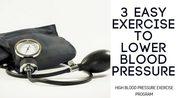 High Blood Pressure Exercise Program