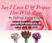 Valentine's Day Flower by Trillium Florist Canada